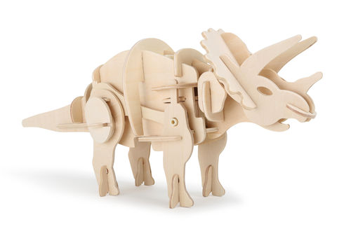 Holzbausatz Dino Roboter Triceratops